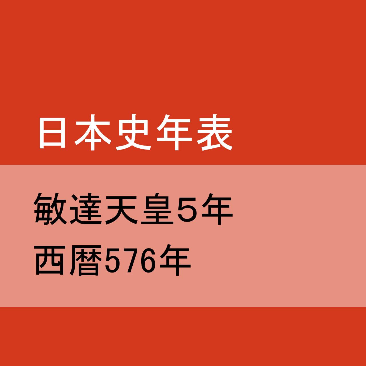 敏達天皇5(576)年