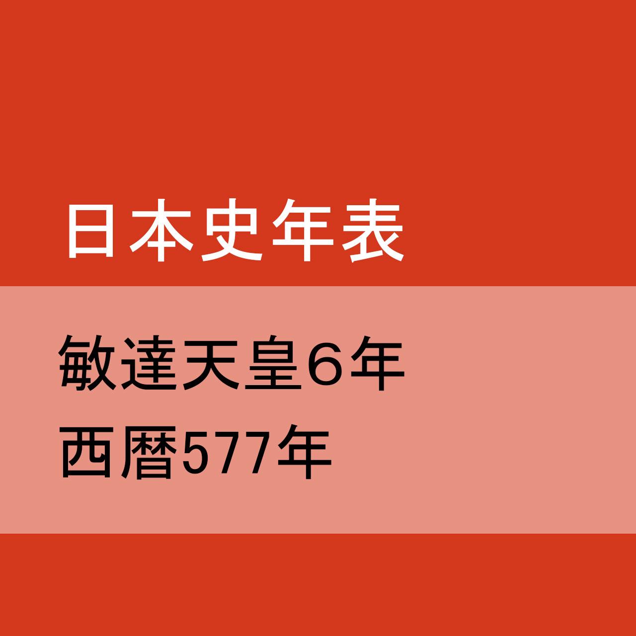 敏達天皇6(577)年